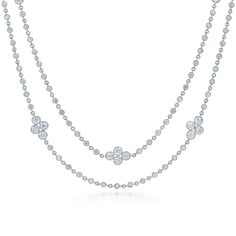 Necklaces Simple View Kwiat Diamond Jewelry from The Diamond Strings Collection. 100 Years of Excellence. - View Kwiat Diamond Jewelry from The Diamond Strings Collection. 100 Years of Excellence. Diamond Necklace Simple, Diamond Choker Necklace, Small Necklace, Diamond Jewelry, Gold Jewellery, Necklace Set, Diamond Rings, Pearl Necklace Designs, Jewelry Art