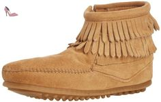 Minnetonka Double Fringe Side Zip Boot, Mocassins (loafers) Fille - Beige (taupe / Tpe), 30 EU - Chaussures minnetonka (*Partner-Link)