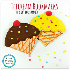 summer crafts toddlers | Summer Craft for Kids - Fun  Ice Cream Cone bookmark | Ice cream craft for kids | back to school Fun | Let children make their own flavors & toppings | paper ice cream