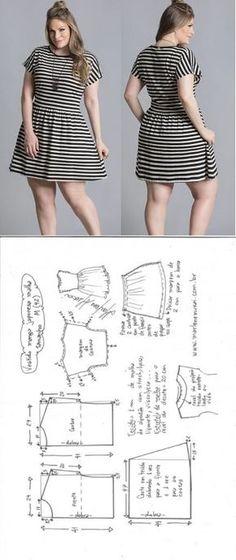 Vestido manga japonesa para malha – DIY – molde, corte e costura – Marlene Mukai