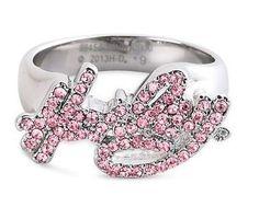 Harley Davidson women's pink ring