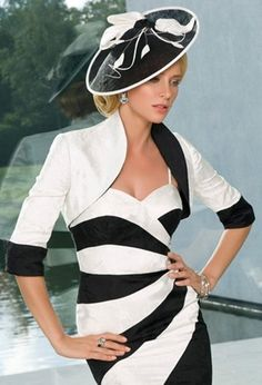 A classic black and white outfit by John Charles