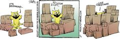 You know #Christmas is coming when your bombarded by boxes! | Read Prickly City #comics @ http://www.gocomics.com/pricklycity/2015/12/14?utm_source=pinterest&utm_medium=socialmarketing&utm_campaign=social | #GoComics #webcomic