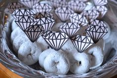 Diamond ring donuts! Perfect for a bridal shower, engagement party, or bachelorette party! by ShowersByApril, $5.00