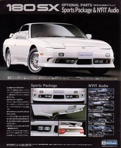 [Catalog] Nissan Genuine Optional parts brochure Nissan 180sx, Nissan Nismo, Datsun Car, Japanese Sports Cars, Ad Car, Car Brochure, Drifting Cars, Nissan Silvia, Japan Cars