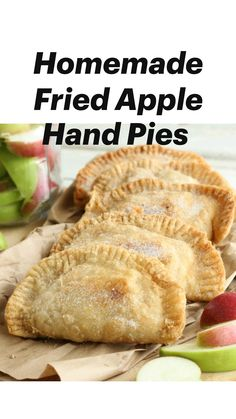 Apple Hand Pies, Fried Apple Pies, Mini Pie Recipes, Apple Recipes Easy, My Recipes, Cooking Recipes, Crockpot Recipes, Recipies, Apple Desserts