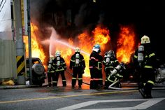 The firefighters extinguish fires.