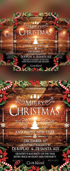 White Christmas Party Flyer  Party Flyer Flyer Template And Template
