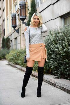 Erin Elizabeth of Wink and a Twirl Fall Style #FallSkirt #FallStyle
