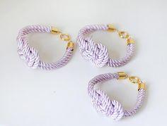 Bridesmaid Wedding Set of 3 Nautical Silk cord Delicate by pardes, $40.00