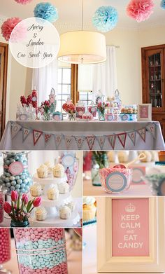Our blue and pink 1st birthday party for our boy/girl twins.  Love how it turned out!  Pictures by Erin Harris Photography