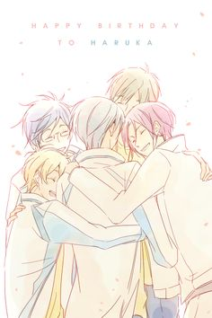 Free! ~~ They all love him so much! Happy Birthday, Haruka!
