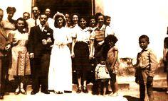 CASAMENTO Carlos Gonçalves Mafra & Maria de Carvalho Mafra, Igreja Matriz Nsa, Bom Sucesso, Guaratuba, 193? - Família Mafra