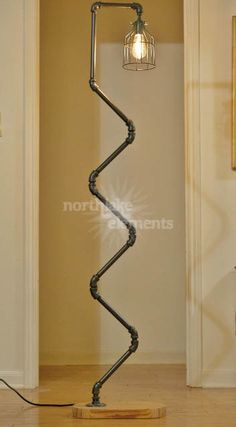 Industrial Style Floor Lamp by NorthlakeElements on Etsy:  pipe floor lamp