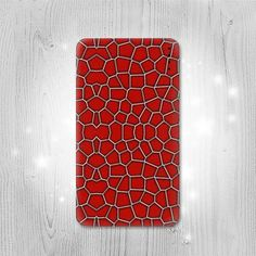 Red Spider Texture Graphic Gadget Personalized Tech by Lantadesign