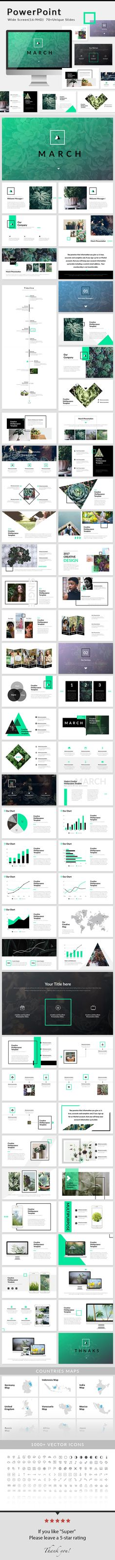 March - PowerPoint #Presentation Template - #Creative #PowerPoint Templates Download here: https://graphicriver.net/item/march-powerpoint-presentation-template/19612399?ref=alena994
