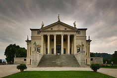 Villa Rotonda front - Villa Capra – Wikipédia, a enciclopédia livre