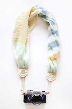 Mint Julep scarf camera strap from Bloom Theory