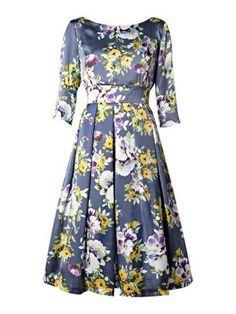 Vestido clássico estampado | Teus vestidos