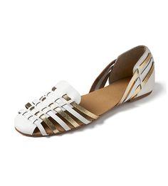 White multi-strap sandals