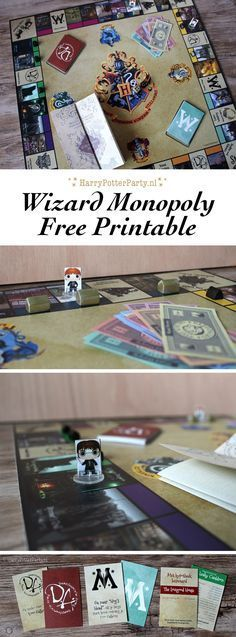 Free Harry Potter Monopoly printable by HarryPotterParty.nl