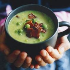Eye of newt and toe of frog, wool of bat and tongue of dog.....while this Witches' Brew might not have anything on the original, we think we'd take it's pea and bacon chowder profile over their bubbling cauldron one any day. From @BBC Food, found at www.edamam.com.