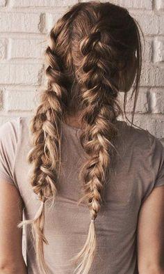 fishtail french braids | hair ideas