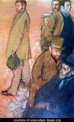 Six Friends of the Artist - Edgar Degas - www.edgar-degas.org