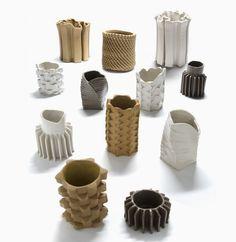 studio floris wubben crafts ceramics using extruders, hammers and fire