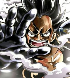 Monkey D. Luffy, Gear Fourth, angry; One Piece