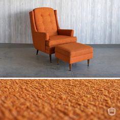 mid-century, modern chair and ottoman hutch has curated in Omaha, NE. www.facebook.com/hutchmodern
