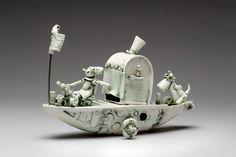 Heidi and Kilbey Sailing South by artist Fleur Schell