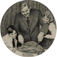 Father Carving Turkey  -   Norman Rockwell