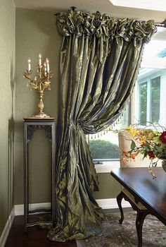 Superbe Dining Room Window Treatment