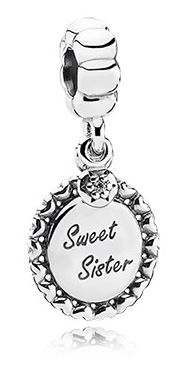 Sweet sister - No.791126CZ - Metal: Sterling Silver - Color: Clear - Stone: Cubic Zirconia