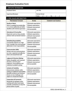 employee evaluation form pdf employee evaluation form 17