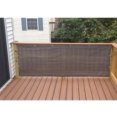 Alion Home Mocha Brown Elegant Privacy Screen For Backyard Deck Patio Balcony Fence Pool Porch Railing. 3 x 25 Wooden Pergola, Backyard Pergola, Pergola Shade, Pergola Plans, Backyard Landscaping, Gazebo, Pergola Ideas, Black Pergola, Cheap Pergola