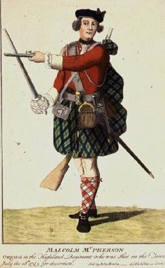 Malcolm McPherson, Corporal in the Black Watch Regiment, Shot for Desertion, 1743 Wall Art & Canvas Prints by Scottish School