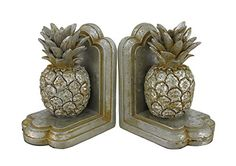 Antique Silver Finish Pineapple Bookends Set of 2 Zeckos http://www.amazon.com/dp/B00O865O80/ref=cm_sw_r_pi_dp_LnPrwb0X2N7BX