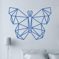 Collection de stickers Origami, pour les fans des petits papiers pliés. Faites s'envoler votre décoration avec ce papillon en origami