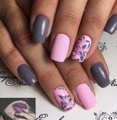 Diy Nail Designs, Short Nail Designs, Beauty Nails, Hair Beauty, Elegant Nails, Winter Nails, Short Nails, Diy Nails, Acrylic Nails