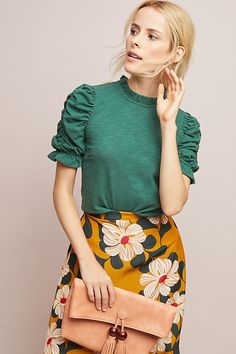 Shop new women's clothing at Anthropologie to discover your next favorite closet staple. Check back frequently for the latest clothing arrivals! New Outfits, Fashion Outfits, Womens Fashion, Egypt Fashion, Free Spirited Woman, Anthropologie Clothing, Gamine Style, Winter Tops, Fitted Skirt