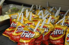 The 'walking taco ' is a concession stand favorite at Gulf Coast High School. The popular snack item is a small bag of Fritos filled with everything found in a taco, including meat, cheese, sour cream and salsa. Joanna Chau/Special to the Daily News