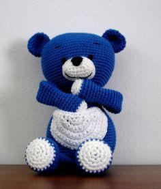 """Crochet - Free Pattern: """"Blue bear"""" - Level: easy+."""