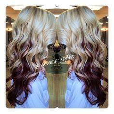 Awe Inspiring Bleach Blonde Hair With Purple Underneath Hair Inspiration Hairstyle Inspiration Daily Dogsangcom
