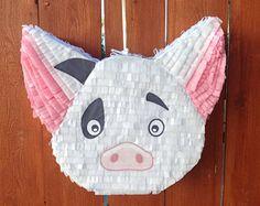 Résultat etsy.com trouvé sur Google Moana Themed Party, Moana Birthday Party, Hawaiian Birthday, 10th Birthday Parties, Pig Birthday, Pig Party, Luau Party, Moana Y Maui, Moana Birthday Decorations