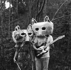 cat and fox masked band #mask #manimal #head - Carefully selected by GORGONIA www.gorgonia.it