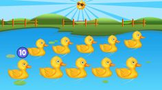 10 Little Ducks Song | Counting Ducks Song for Kids | Numbers Song