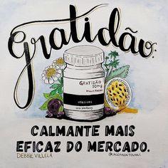 """2,305 curtidas, 9 comentários - ByNina (Carolina Carvalho) (@instabynina) no Instagram: """"Agradecer sempre!!! #regram @debbievillela #frases #gratidão #debbievillela Ilustra @cacomontovani"""""""