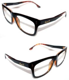 eebb217b5725 Men s Women s Thick Horn Rimmed Clear Lens Eye Glasses Brown Black Louis  Fashion  LouisV  Square